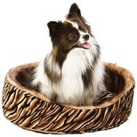 Wholesale Round Faux Mink Reversible Pet Bed for sale at bulk cheap prices!