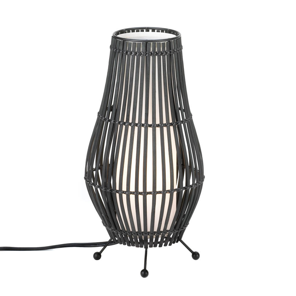 Metal Slat Hourglass Lamp