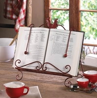 Wholesale Red Rooster Cookbook Stand for sale at bulk cheap prices!