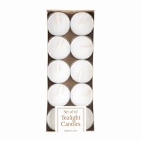 Wholesale White Tealight Candles Pack Of 10 for sale at  bulk cheap prices!
