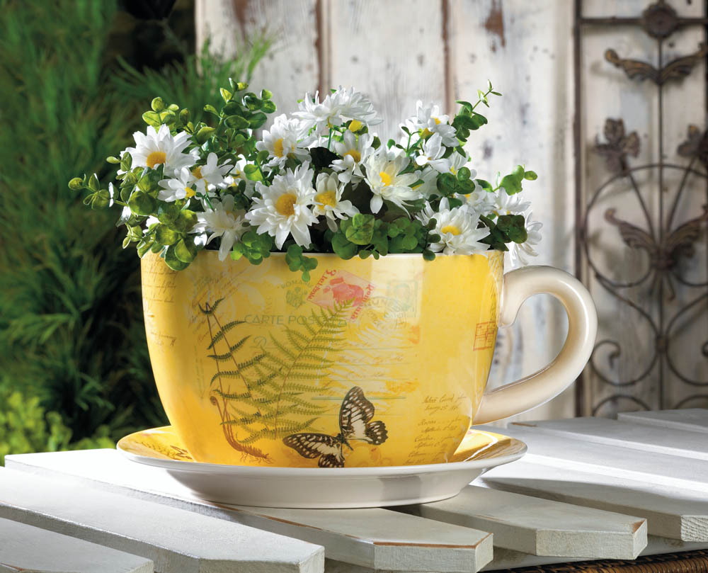 Large Butterfly Teacup Planter