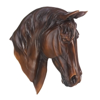 Wholesale Chestnut Horse Bust Wall Decor for sale at bulk cheap prices!