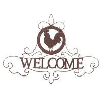 Wholesale Rooster Silhouette Welcome Sign for sale at bulk cheap prices!