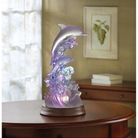 Wholesale Frosted Dolphins and Waves with Multicolor Light for sale at bulk cheap prices!
