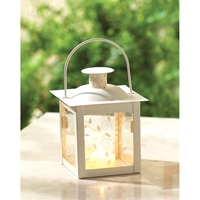 Wholesale Small Ivory Color Glass Lantern for sale at bulk cheap prices!
